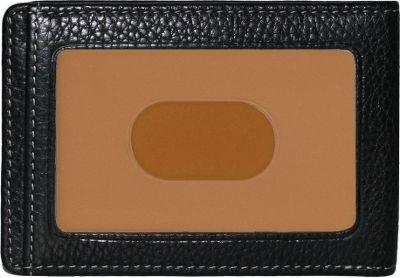 Boconi Tyler Tumbled RS RFID Two Fold Money Clip Black w/ terra cotta - Boconi Men's Wallets