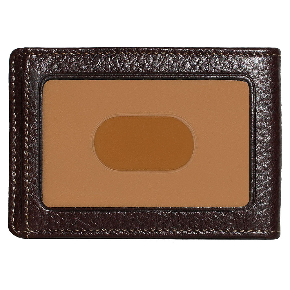Boconi Tyler Tumbled RS RFID Two Fold Money Clip Coffee w terra cotta Boconi Men s Wallets
