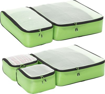 eBags Ultralight Packing Cubes - Super Packer 5pc Set Green - eBags Packing Aids