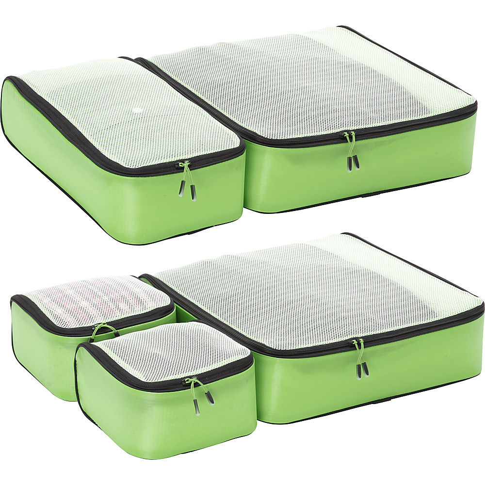 eBags Ultralight Packing Cubes - Super Packer 5pc Set Green - eBags Packing Aids - Travel Accessories, Packing Aids