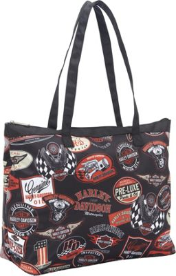 Harley Davidson by Athalon Shopper Tote Vintage - Harley Davidson by Athalon All-Purpose Totes