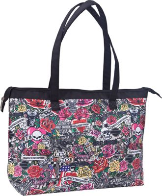Harley Davidson by Athalon Shopper Tote Tattoo - Harley Davidson by Athalon All-Purpose Totes