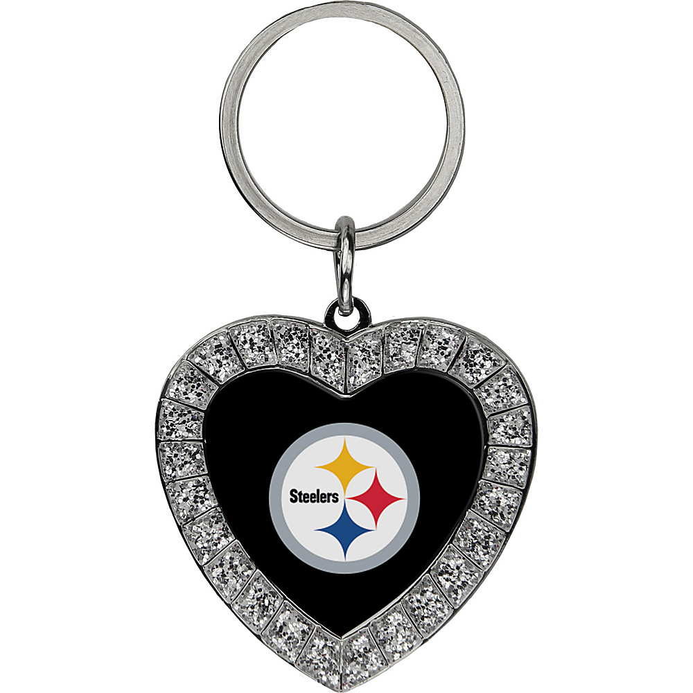 Luggage Spotters NFL Pittsburgh Steelers Rhinestone Key Chain Yellow - Luggage Spotters Ladies Key/Card/Coins Cases