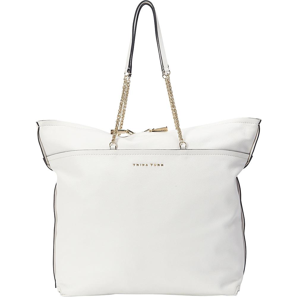 304 29 More Details Trina Turk Maddox Tote White Designer Handbags