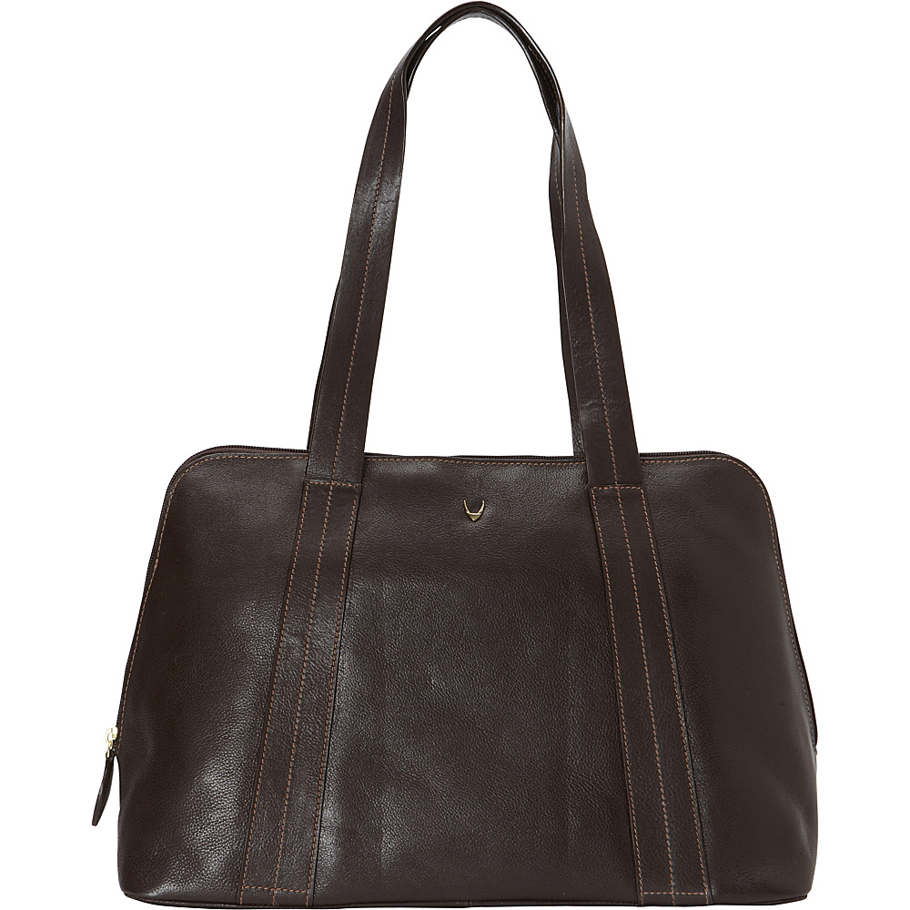 Hidesign Cerys Leather Multi Compartment Tote Brown Hidesign Leather Handbags