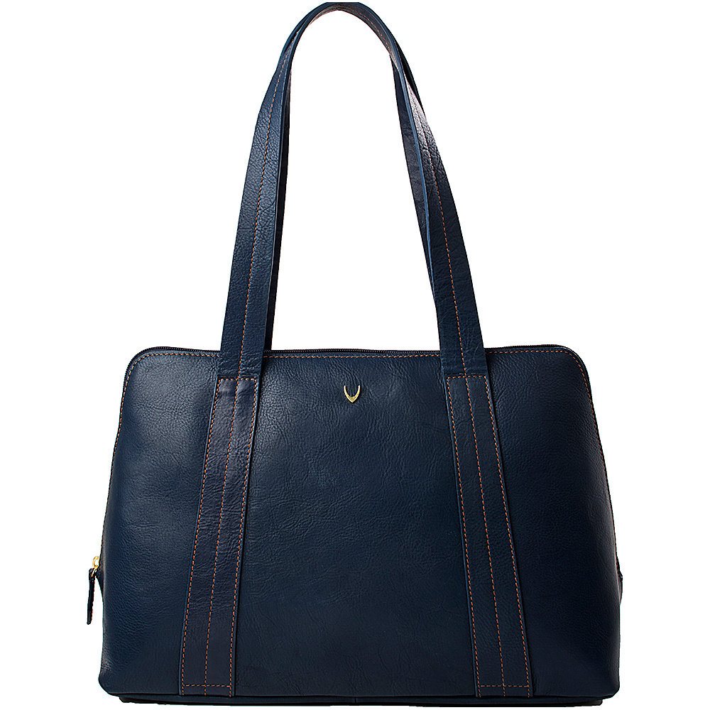 Hidesign Cerys Leather Multi-Compartment Tote Blue - Hidesign Leather Handbags
