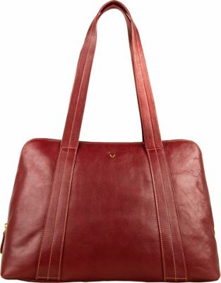 Hidesign Cerys Leather Multi-Compartment Tote Red - Hidesign Leather Handbags