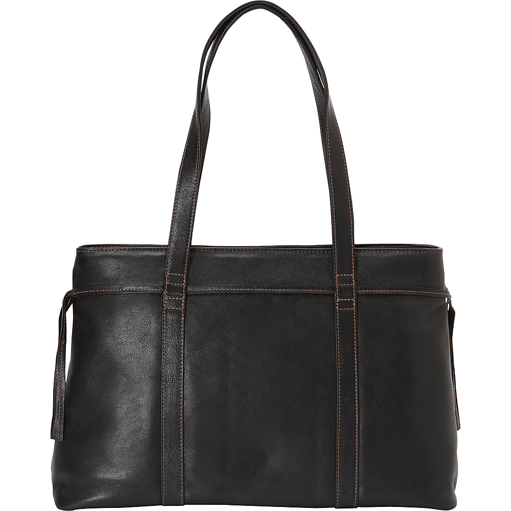 Hidesign Mina Classic Leather Tote Black Hidesign Leather Handbags