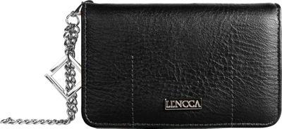 Lencca Kymira Wallet Organizer Clutch Black/Marine - Lencca Manmade Handbags
