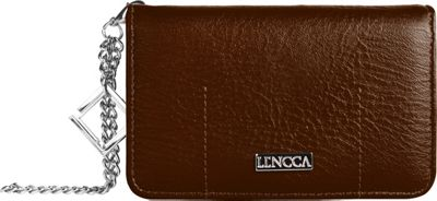 Lencca Kymira Wallet Organizer Clutch Brown/Black - Lencca Manmade Handbags