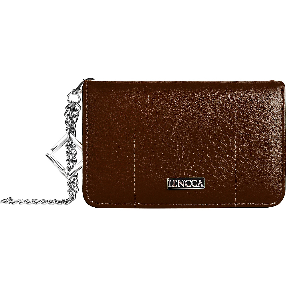Lencca Kymira Wallet Organizer Clutch Brown Black Lencca Manmade Handbags
