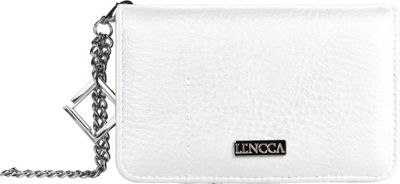 Lencca Kymira Wallet Organizer Clutch White/Orange - Lencca Manmade Handbags