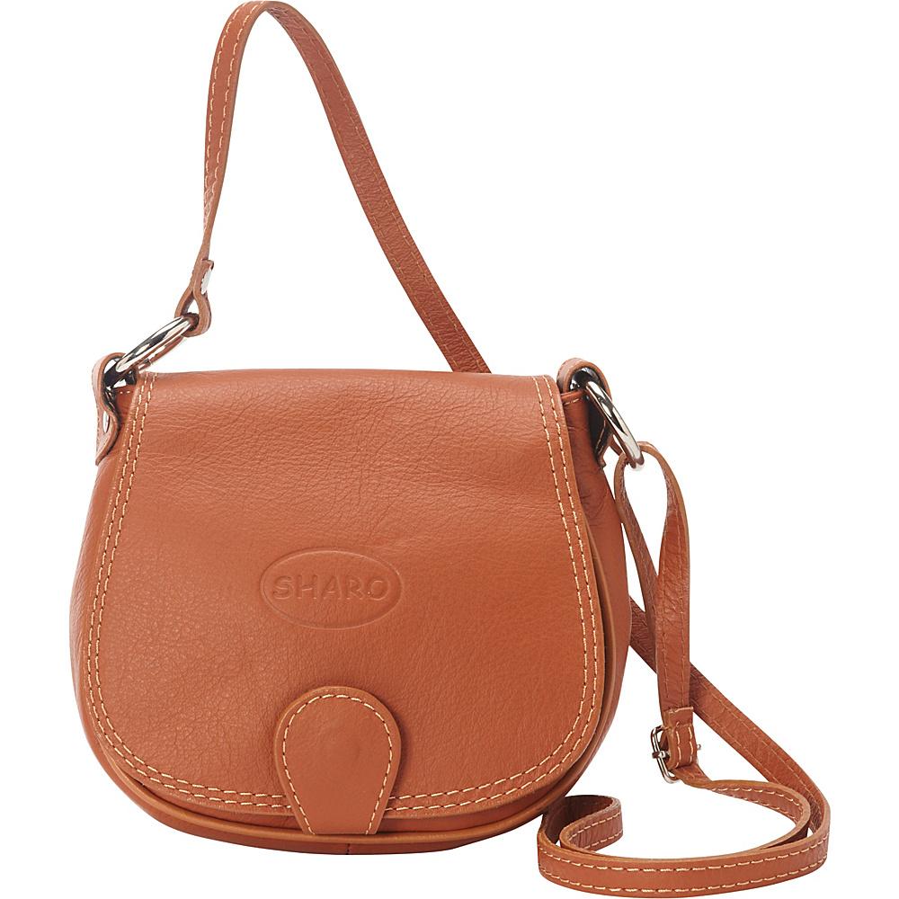 Sharo Leather Bags Soft Italian Leather Saddle Bag Honey Brown - Sharo Leather Bags Leather Handbags