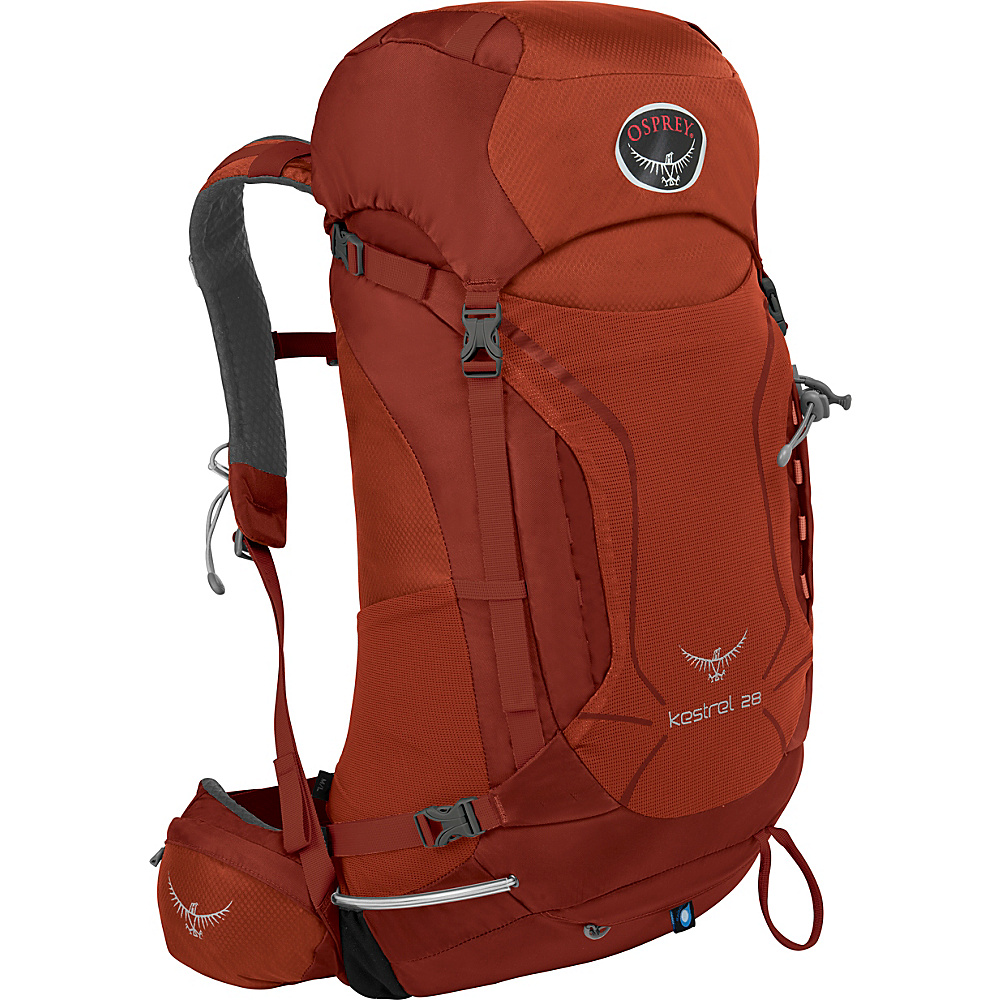 Osprey Kestrel 28 Hiking Backpack Dragon Red - M/L - Osprey Backpacking Packs - Outdoor, Backpacking Packs