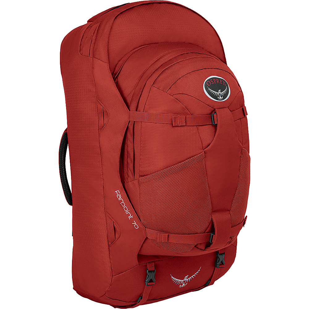 Osprey Farpoint 70 Travel Laptop Backpack Jasper Red - M/L - Osprey Travel Backpacks - Backpacks, Travel Backpacks