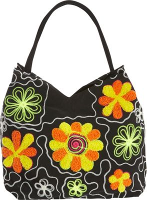 Image of Bamboo 54 Embroidered Hobo BBK - Bamboo 54 Fabric Handbags