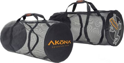 AKONA Heavy Duty Mesh Duffel Black - AKONA Outdoor Duffels