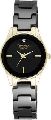 Armitron Women's Bracelet Watch Black/Gold - Armitron Watches