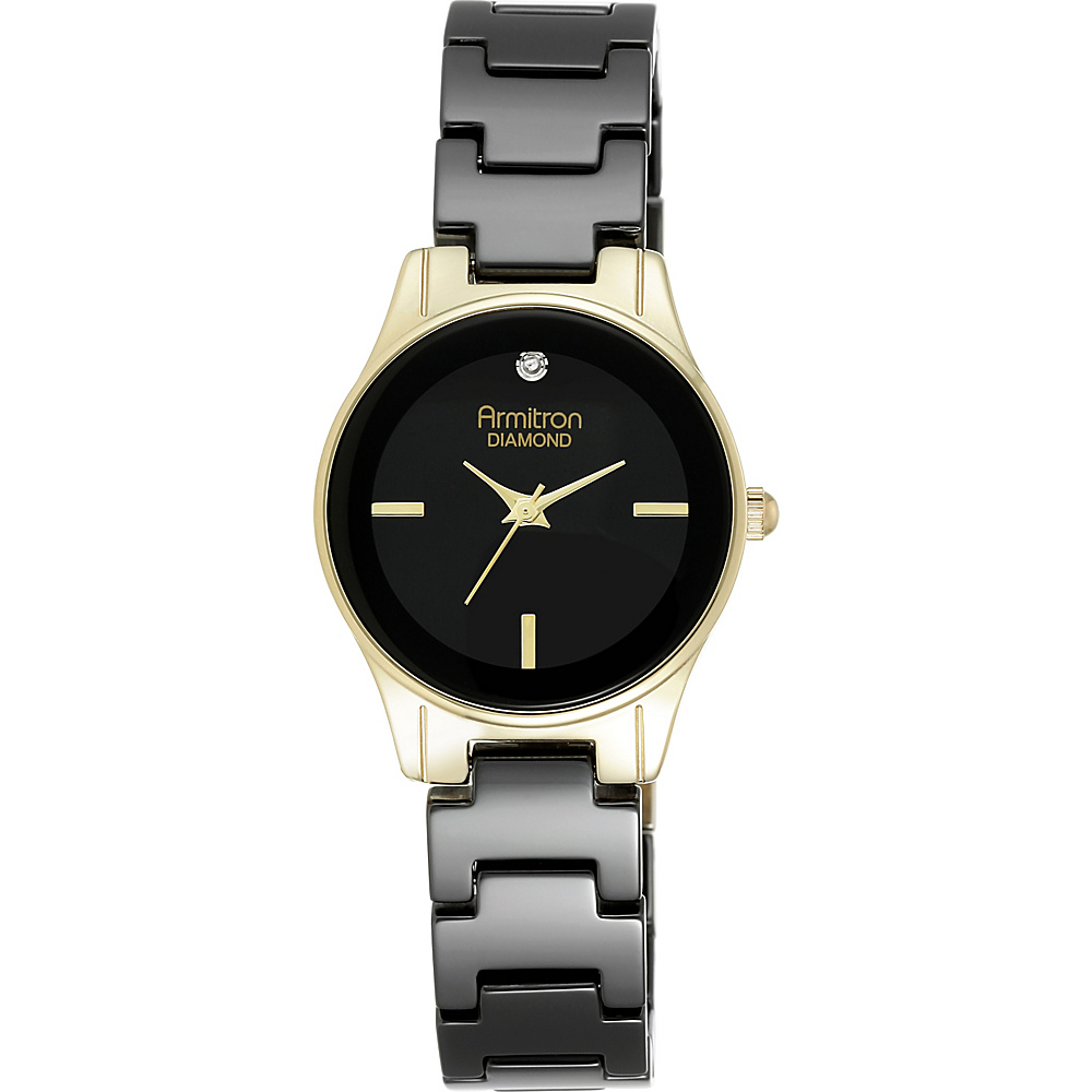 Armitron Women s Bracelet Watch Black Gold Armitron Watches
