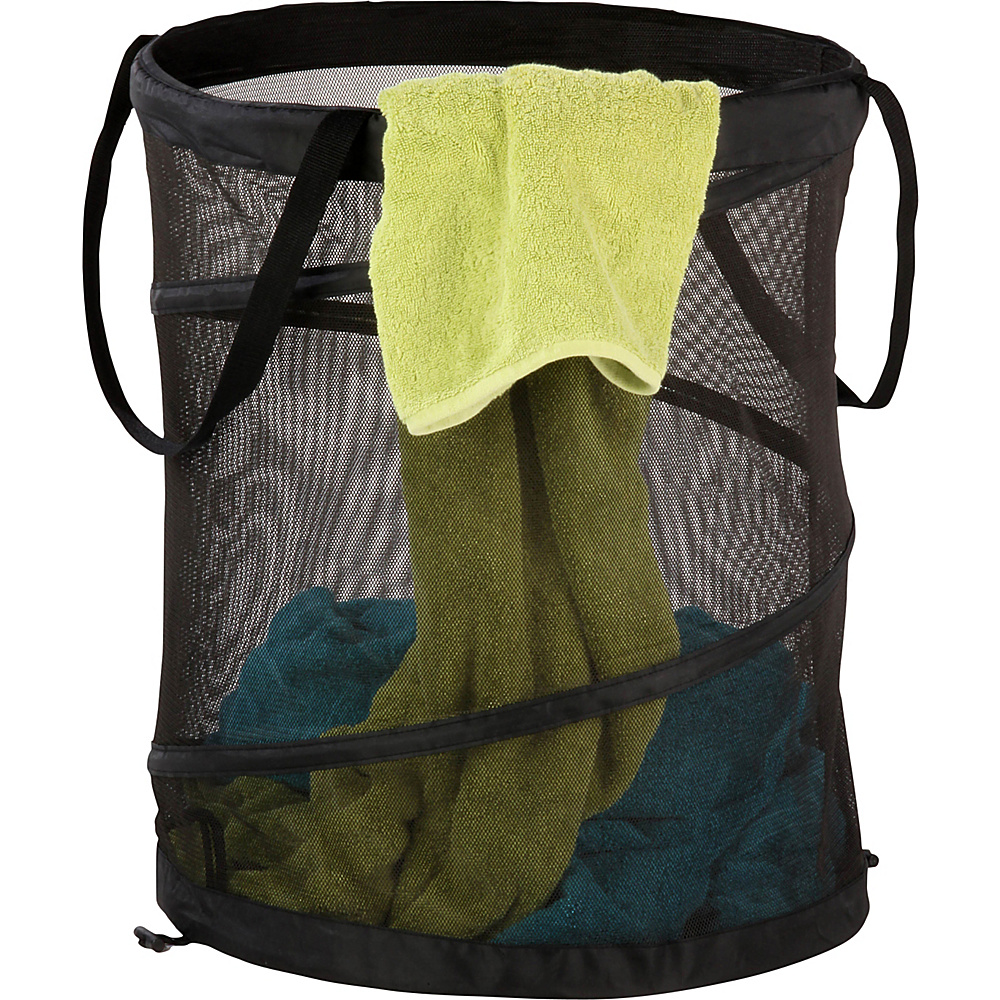 Honey Can Do Large Mesh Pop Open Hamper Black Honey Can Do Packable Bags