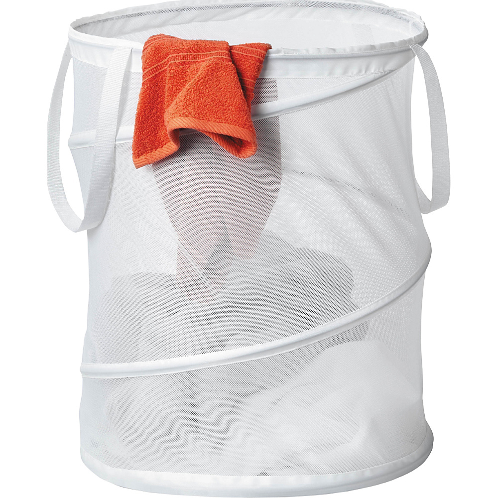 Honey Can Do Large Mesh Pop Open Hamper white Honey Can Do Packable Bags