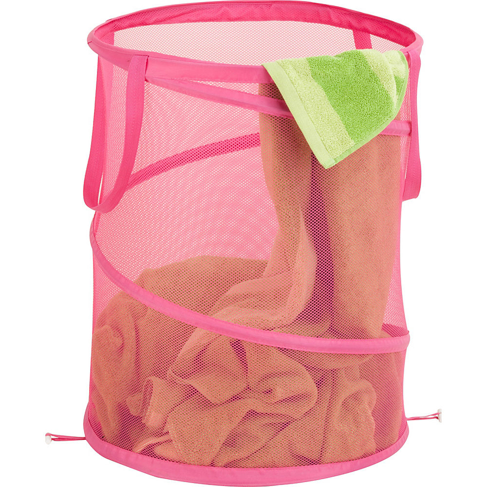 Honey Can Do Large Mesh Pop Open Hamper Pink Honey Can Do Packable Bags