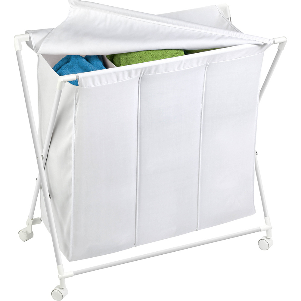 Honey Can Do Triple Folding Hamper whtie Honey Can Do Travel Health Beauty