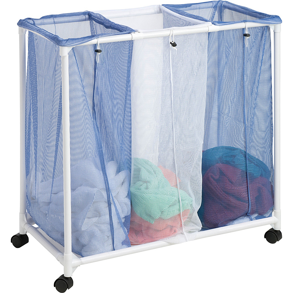Honey Can Do 3 Bag Mesh Laundry Sorter blue Honey Can Do Travel Health Beauty