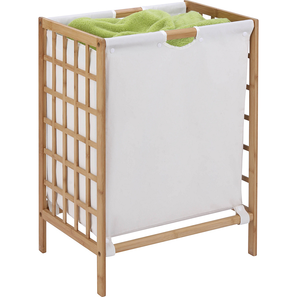 Honey Can Do Bamboo Grid Frame Hamper natural Honey Can Do Luggage Accessories