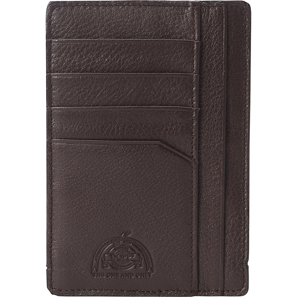 Dopp SoHo RFID Slim Passport Sleeve Dark Brown Dopp Men s Wallets