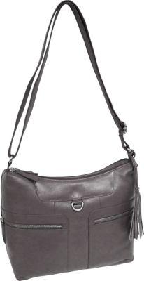 Great American Leatherworks Tassel Shoulder Bag Pewter - Great American Leatherworks Leather Handbags