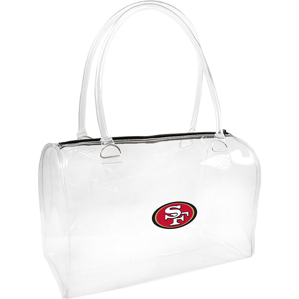 Littlearth Clear Bowler - NFL Teams San Francisco 49ers - Littlearth Manmade Handbags - Handbags, Manmade Handbags