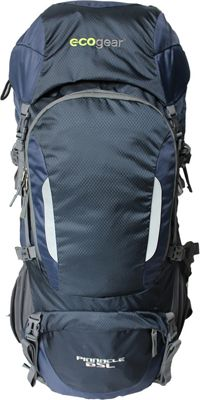 ecogear Pinnacle 65L Hiking Pack Navy Blue - ecogear Day Hiking Backpacks