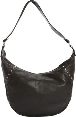 Victoria Leather Harley Hobo Black - Victoria Leather Leather Handbags