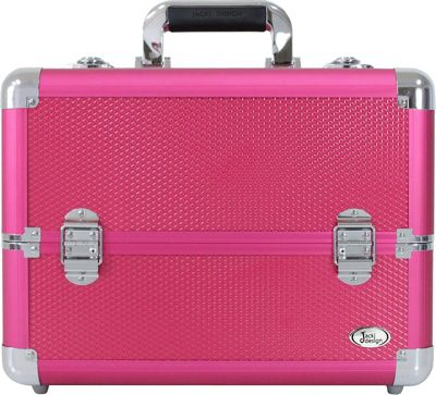 Jacki Design Carrying Makeup Salon Train Case with Expandable Trays Hot Pink - Jacki Design Toiletry Kits 10392925
