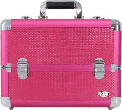 Jacki Design Carrying Makeup Salon Train Case with Expandable Trays Hot Pink - Jacki Design Toiletry Kits