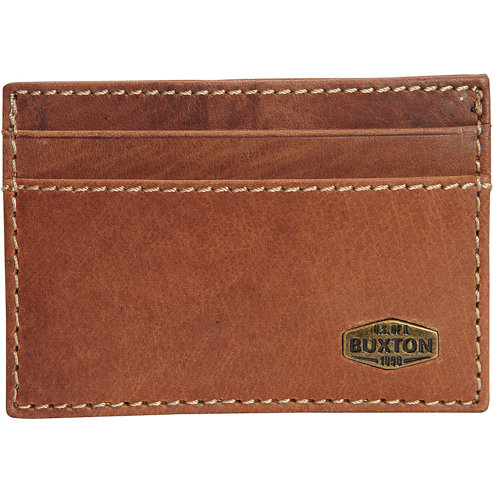 Buxton Expedition RFID Front Pocket Get-a-Way Wallet Saddle - Buxton Mens Wallets - Work Bags & Briefcases, Men's Wallets