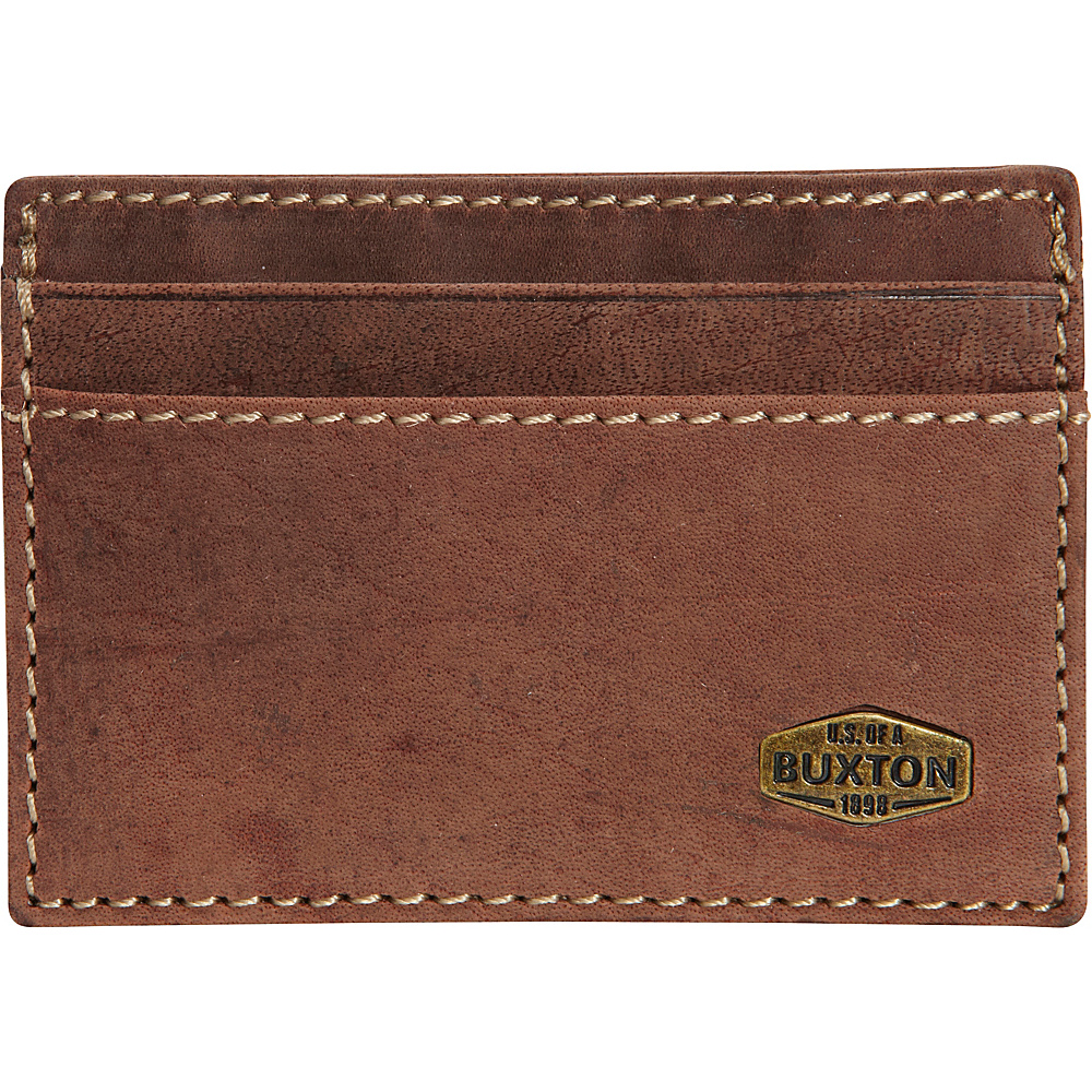 Buxton Expedition RFID Front Pocket Get-a-Way Wallet Walnut - Buxton Mens Wallets - Work Bags & Briefcases, Men's Wallets