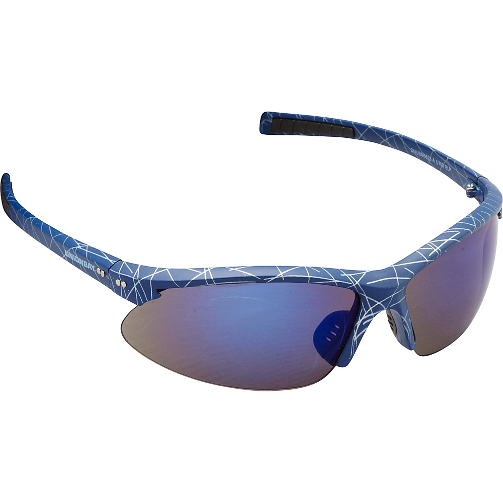 Unionbay Eyewear Oval Wrap Sunglasses Blue Print Unionbay Eyewear Sunglasses