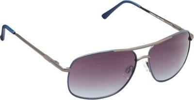 Unionbay Eyewear Metal Aviator Sunglasses Gun Blue - Unionbay Eyewear Sunglasses