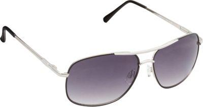 Unionbay Eyewear Metal Aviator Sunglasses Silver Black - Unionbay Eyewear Sunglasses