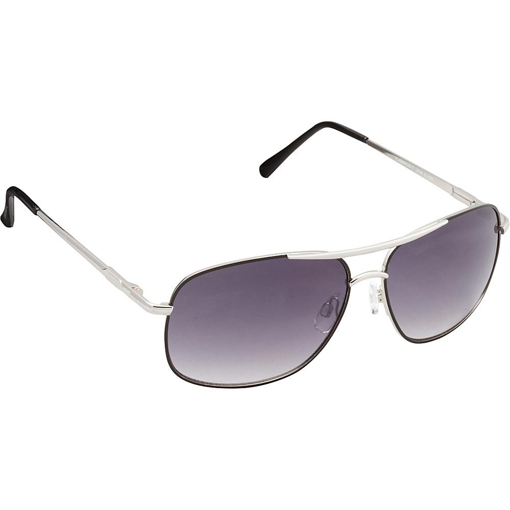 Unionbay Eyewear Metal Aviator Sunglasses Silver Black Unionbay Eyewear Sunglasses