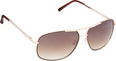 Unionbay Eyewear Metal Aviator Sunglasses Gold Brown - Unionbay Eyewear Sunglasses