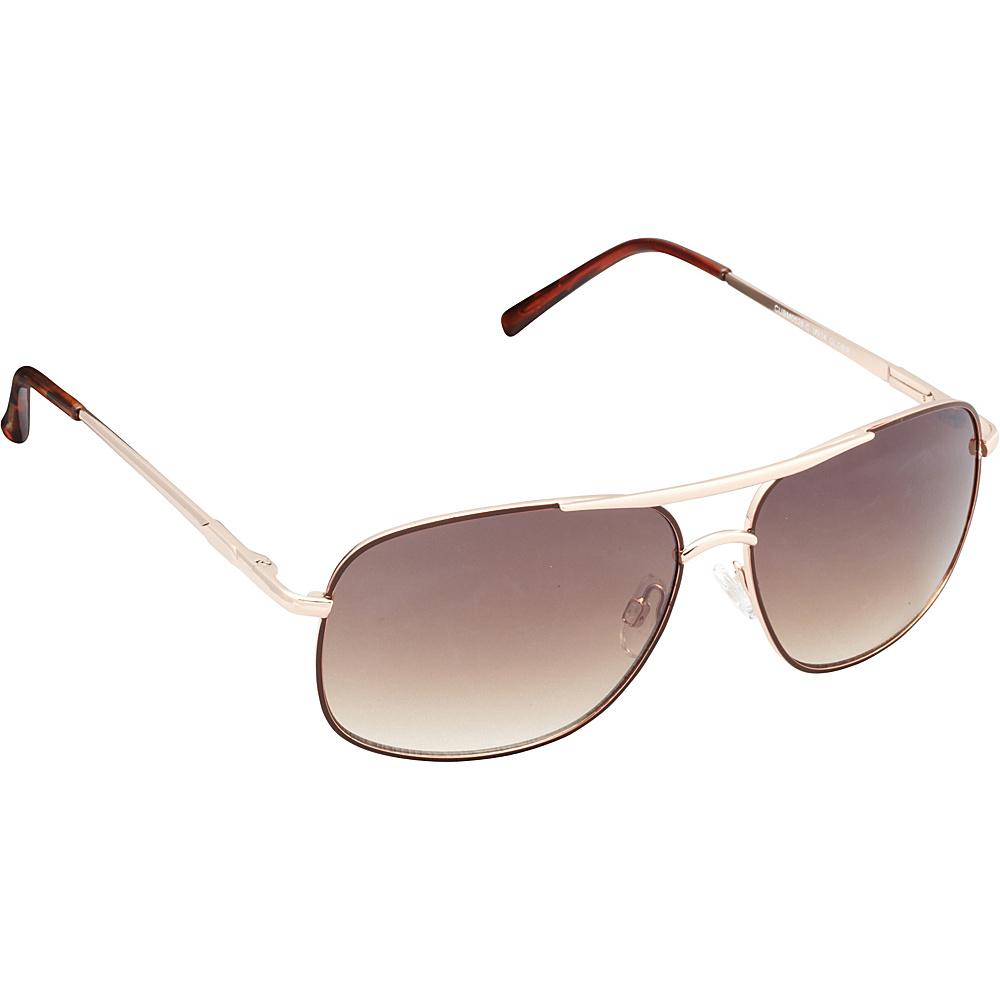 Unionbay Eyewear Metal Aviator Sunglasses Gold Brown Unionbay Eyewear Sunglasses