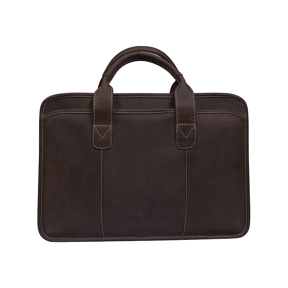 Canyon Outback Leather Buffalo Valley 15 Leather Briefcase Distressed Brown Canyon Outback Non Wheeled Business Cases