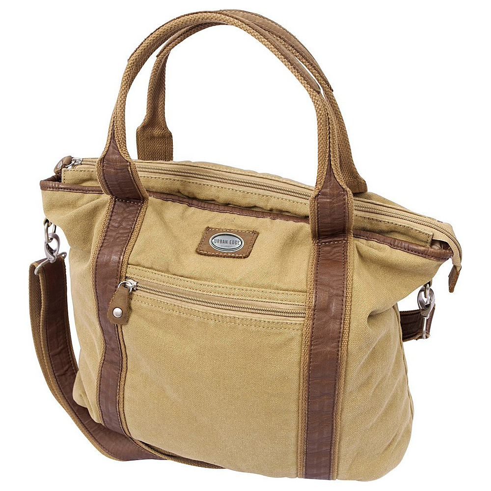 Canyon Outback Urban Edge Rhett 17-inch Canvas Tote Bag Tan - Canyon Outback All-Purpose Totes