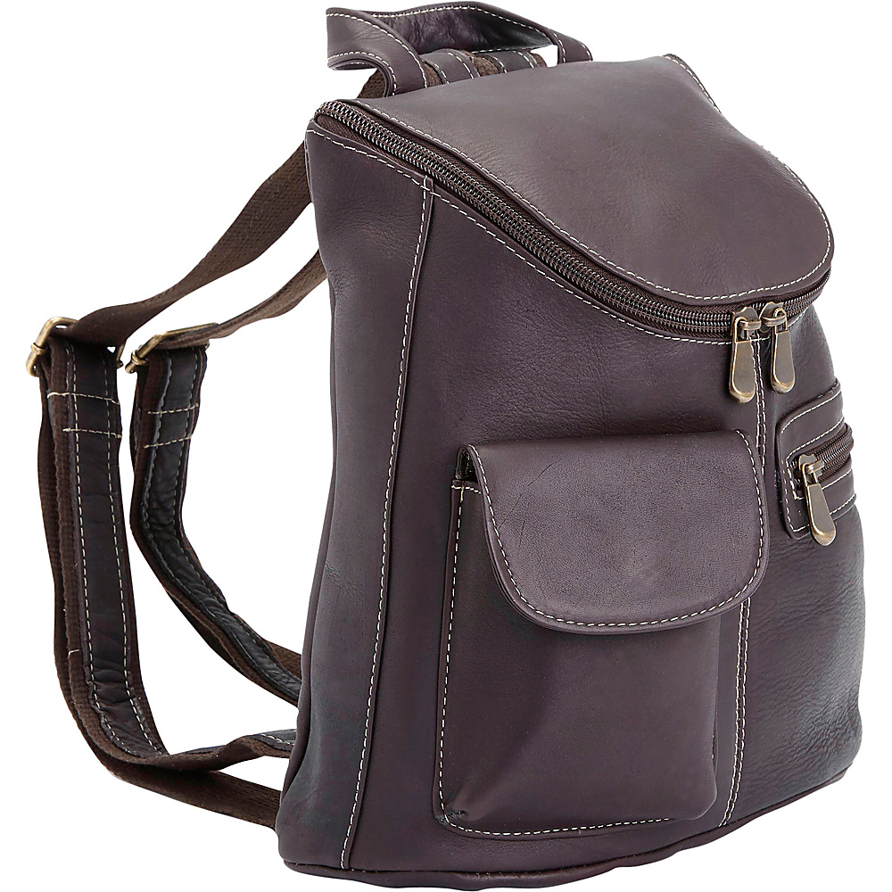 Royce Leather Luxury Colombian Leather Tablet iPad Backpack Cafe Royce Leather Leather Handbags