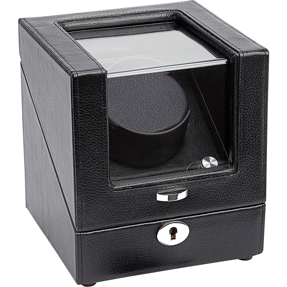Royce Leather Luxury Leather Battery Powered Single Watch Winder Black - Royce Leather Watches - Fashion Accessories, Watches