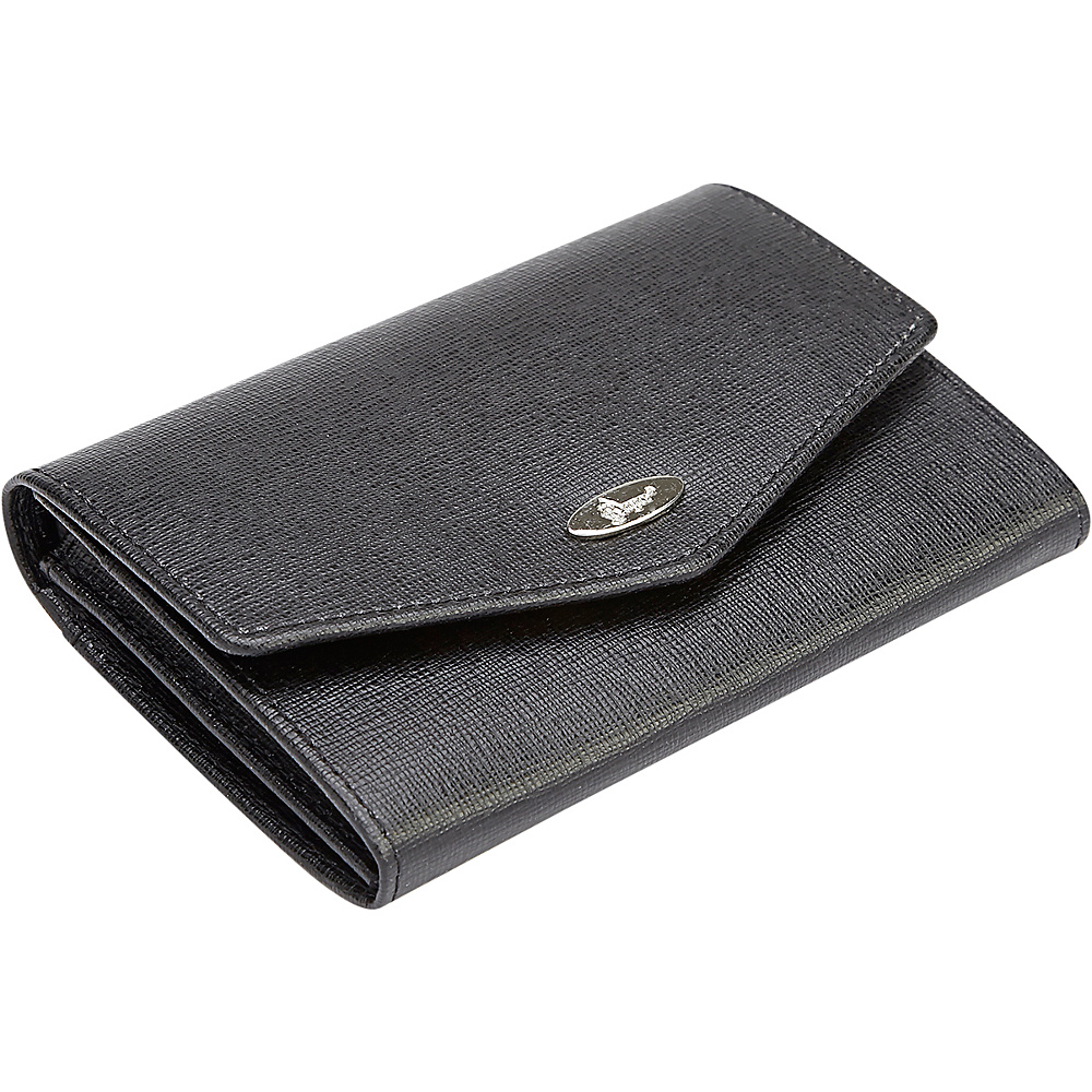 Royce Leather RFID Blocking  French Purse Leather Wallet Black - Royce Leather Womens Wallets - Women's SLG, Women's Wallets