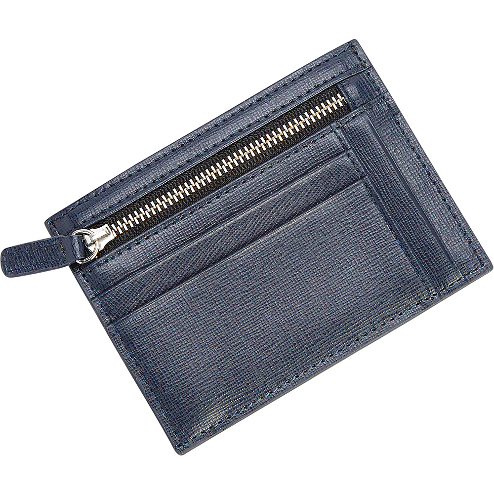 Royce Leather RFID Blocking Slim Card Case Wallet Blue - Royce Leather Mens Wallets - Work Bags & Briefcases, Men's Wallets